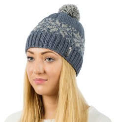 Reflective beanie hat - greyish blue