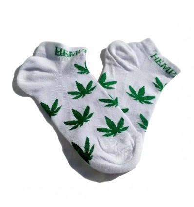 Socks With Weed Leaves, silver-ions finish (white)