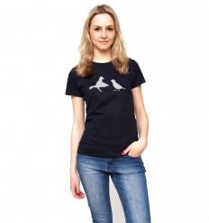Women's reflective T-shirt  with birds