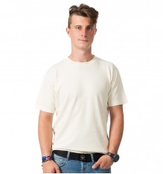 Hemp T-shirt, men's, beige