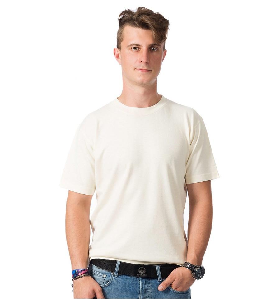 Hemp t shirt men 39 s beige e kanape hemp clothing for Mens hemp t shirts