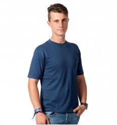 Hemp T-shirt, men's, blue