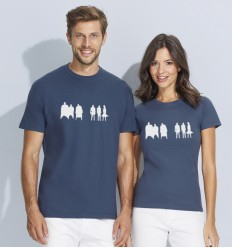 Reflective T-shirt  with people, for men and women