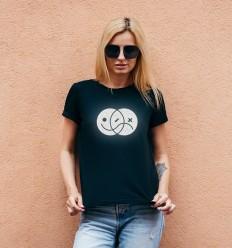 Women's Reflective T-shirt with EMOJI