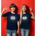 Kid's Reflective T-shirt with EMOJI, blue