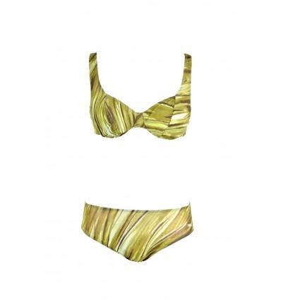 Tan Through Swimming Suit (green)