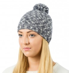 Reflective beanie hat -  marl grey