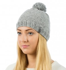 Reflective beanie hat -  grey