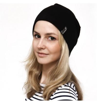 Hemp beanie hat, black