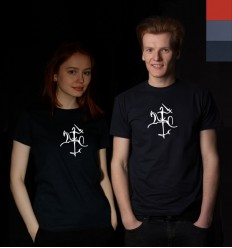 Reflective T-shirt with Vytis, men's and women's